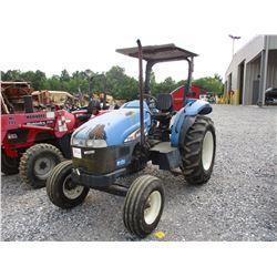 2004 NEW HOLLAND TT55 FARM TRACTOR, VIN/SN:T00100M - 3 PTH, PTO, CANOPY, 14.9-28 REAR TIRES, METER R