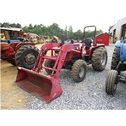 MAHINDRA 4530 FARM TRACTOR, VIN/SN:USR1021 - MFWD, 3 PTH, PTO, (1) HYD REMOTE, MAHINDRA ML245 FRONT