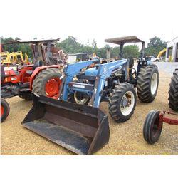 FORD 4630 FARM TRACTOR, VIN/SN:092545B - 3 PTH, PTO, 2446 BUSH HOG LOADER, CANOPY