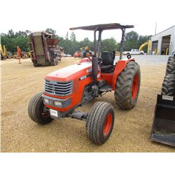 KUBOTA M5700 FARM TRACTOR, VIN/SN:55418 - 4X4, 3 PTH, PTO, HYD REMOTE, DIESEL ENGINE, CANOPY, METER