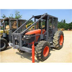 KUBOTA M108 SHD FARM TRACTOR, VIN/SN:M108550294 - MFWD, 3 PTH, PTO, 2 REMOTES, WINCH, CANOPY, SWEEPS