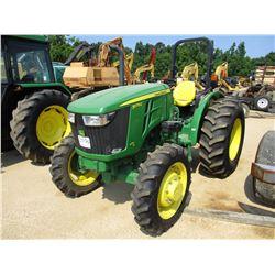 JOHN DEERE 5075E FARM TRACTOR, VIN/SN:110110 - MFWD, 3 PTH, PTO, ROLL BAR, 16.9-28 REAR TIRES, 9.5-2