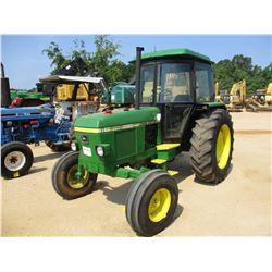 JOHN DEERE 2140 FARM TRACTOR, VIN/SN:486778 - 3 PTH, PTO, 2 REMOTES, ECAB W/AC, 16.9R34 TIRES, METER