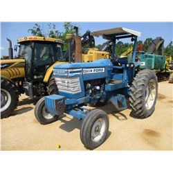 FORD 6700 FARM TRACTOR, VIN/SN:052077 - 3 PTH, PTO, CANOPY, 16.9-38 REAR TIRES, METER READING 953 HO