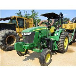 2013 JOHN DEERE 6105D FARM TRACTOR, VIN/SN:050569 - 3 PT HITCH, PTO, 3 REMOTES, ECAB W/AC, 18.4-34 T