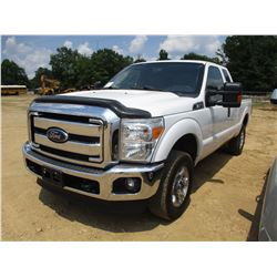 2014 FORD F250 PICKUP, VIN/SN:1FT7X2B66EEB52477 - 4X4, EXT CAB, GAS ENGINE, A/T, ODOMETER READING 10