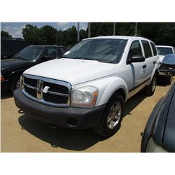 2006 DODGE DURANGO SUV, VIN/SN:1D4HB38NX6F158787 - GAS ENGINE, A/T, ODOMETER READING 159,327 MILES (
