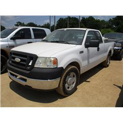 2006 FORD F150 PICKUP, VIN/SN:1FTPX125X6KC92231 - EXT CAB, GAS ENGINE, A/T, ODOMETER READING 125,745