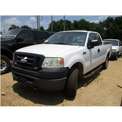 2007 FORD F150 PICK UP, VIN/SN:1FTRX14W17FA68709 - 4X4, EXTENDED CAB, V8 GAS ENG, A/T, ODOMETER READ
