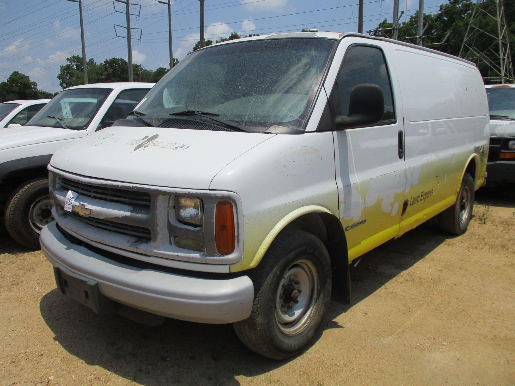 2002 Chevrolet 3500 Express Cargo Van  Vin  Sn