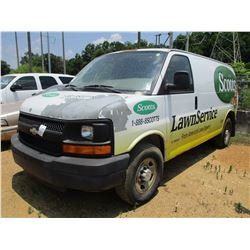 2002 CHEVROLET 3500 EXPRESS CARGO VAN, VIN/SN:1GCHG35U751235802 - GAS ENGINE, A/T, ODOMETER READING