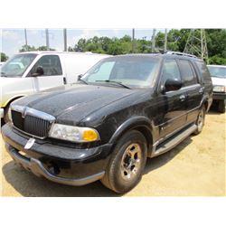 2002 LINCOLN NAVAGATOR SUV, VIN/SN:5LMEU27R42LJ14278 - GAS ENGINE, A/T