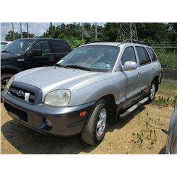 2005 HYUNDAI SANTA FE VIN/SN:KM8SC13EX5U005568 - GAS ENGINE, AUTO TRANS, ODOMETER READING 225,046 MI