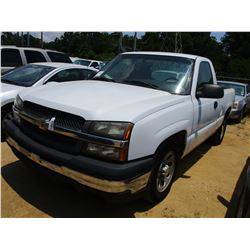2005 CHEVROLET PICKUP, VIN/SN:1GCEC14V05Z281292 - GAS ENGINE, A/T, ODOMETER READING 116,348 MILES