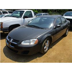 2005 DODGE STRATUS SEDAN, VIN/SN:1B3EL46X55N512857 - GAS, A/T, ODOMETER READING 107,087 MILES