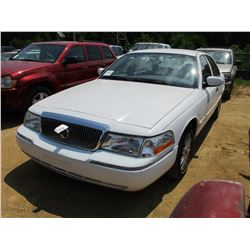 2004 MERCURY GRAND MARQUIS, VIN/SN:2M3FM74W14X657997 - GAS, A/T, ODOMETER READING 105,854 MILES