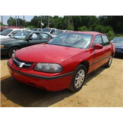 2005 CHEVROLET IMPALA VIN/SN:2GAWE52L359187142 - GAS ENGINE, A/T, ODOMETER READING 137,417 MILES