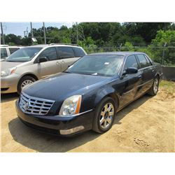 2006 CADILLAC DTS SEDAN, VIN/SN:1G6KD57Y36U217018 - V8 GAS ENGINE, A/T, ODOMETER READING 141,845 MIL