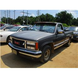 1991 CHEVROLET 1500 PICKUP, VIN/SN:1GTDC14Z3ME5401751 - GAS ENGINE, 5 SPEED TRANS, LONG BED, ODOMETE