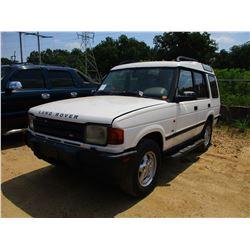 1997 RANGE ROVER, VIN/SN:SALJV1241VA534539 - V8 GAS ENGINE, A/T, ODOMETER READING 90,415 MILES