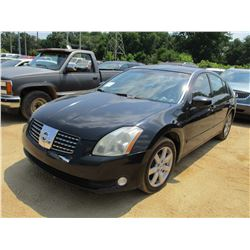 2004 MAXIMA 3.5 SL VIN/SN:1N4BA41E94C860237 - GAS ENGINE, A/T, ODOMETER READING 246,061 MILES