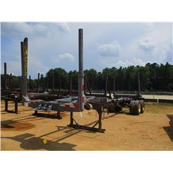 POLE LOG TRAILER, - T/A, 2 BOLSTER, EXTENDABLE, 11R22.5 TIRES