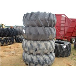 (4) LOG SKIDDER TIRES & RIMS