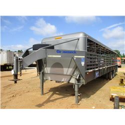 2012 GOOSENECK STOCK TRAILER, VIN/SN:16GS63625CB066145 - 36' T/A, 215/75R17.5 TIRES