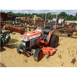 "KUBOTA B7300 FARM TRACTOR, VIN/SN:11382 - 4WD, 3 PTH, PTO, 60"" MOWER, DIESEL ENGINE, ROLL BACK"