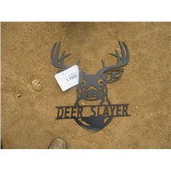 DEERE SLAYER METAL SIGN