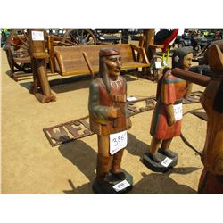 WOODEN INDIAN BRAVE