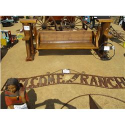 10' METAL SIGN, WELCOME TO THE RANCH