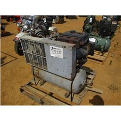 INGERSOLL-RAND T30 AIR COMPRESSOR, - GAS ENGINE TANK MOUNTED (COUNTY OWNED)