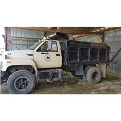 1991 CHEVROLET KODIAK DUMP, VIN/SN:1GBL7HIP8MJ105327 - S/A, GAS ENGINE (COUTNY OWNED) (SELLING OFFSI