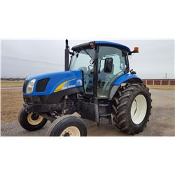 2007 NEW HOLLAND T6020 FARM TRACTOR, VIN/SN:Z88BD22715 - 3 PTH, PTO, (2) HYD REMOTES, METER READING