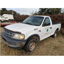 1998 FORD F150 PICKUP, VIN/SN:1FTZF18W0WKB26425 - 4X4, GAS ENGINE, A/T, ODOMETER READING 63,114 MILE
