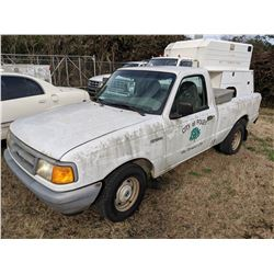 1997 FORD RANGER PICKUP, VIN/SN:1FTCR10U0VUC50494 - GAS ENGINE, A/T, ODOMETER READING 76,856 MILES,
