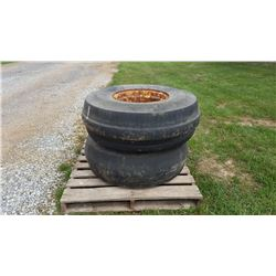 (2) IMPLEMENT TIRES W/ WHEELS, SIZE 11.00-16SL (COUNTY OWNED) (SELLING OFFSITE LOCATED IN FRANKLIN,