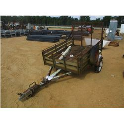 6' S/A TAG TRAILER, - FOLD DOWN RAMPS, 5.30-12 TIRES