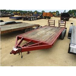 """UTILITY TRAILER, - 14' LENGTH, 6'-6"""" WIDTH, DOVE TAIL RAMPS"""
