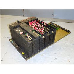 GE FANUC IC655CHS508A BASE UNIT/ 8 SLOT RACK W/ POWER SUPPLY, CPU AND INPUT MODULES *SEE PICS!!