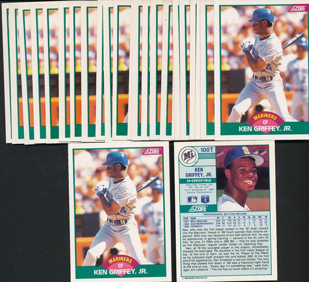 4579589a98 Lot of (25) 1989 Score Rookie / Traded #100T Ken Griffey Jr. RC
