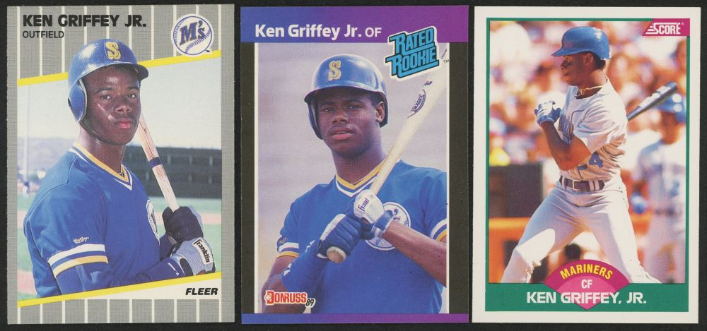 Lot Of 3 Ken Griffey Jr Rookie Cards With 1989 Score Rookie