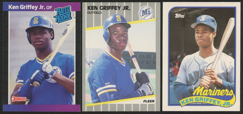 Lot Of 3 Ken Griffey Jr Rookie Cards With 1989 Donruss