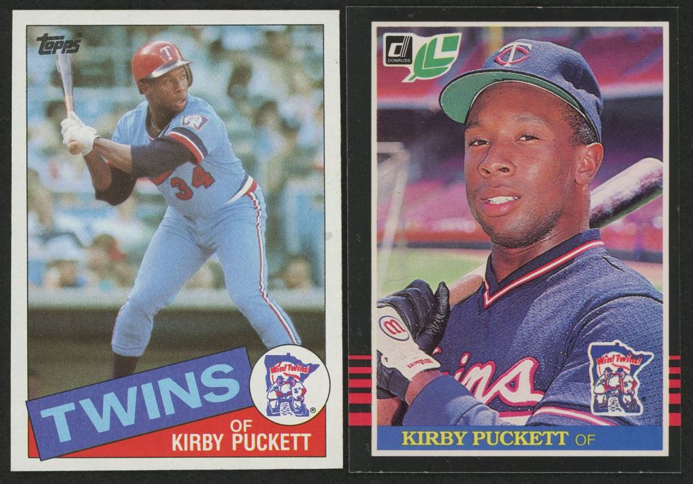 Lot Of 2 Kirby Puckett Rookie Cards With 1985 Leafdonruss