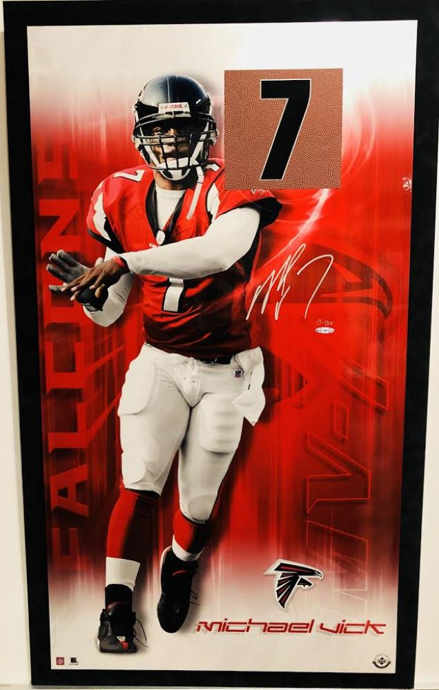 6dded3adb6e Michael Vick Signed LE Atlanta Falcons 22.5x38.5 Print #17/150 (UDA ...