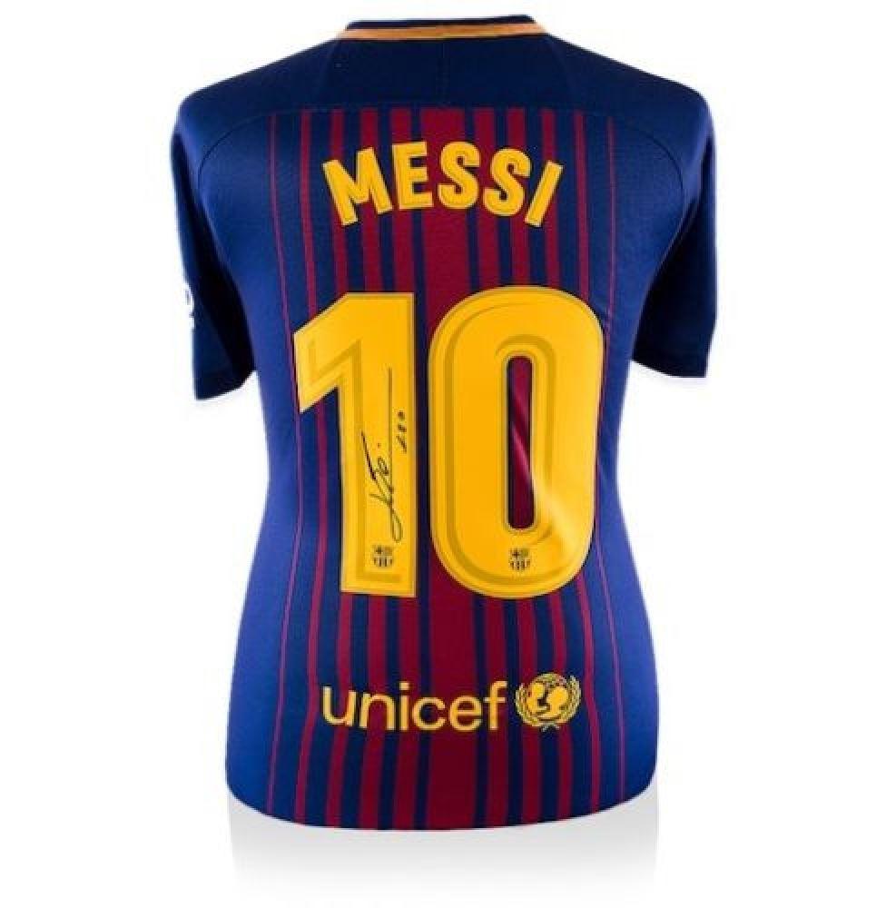 competitive price e23eb 768fd Lionel Messi Signed Barcelona Jersey (Messi COA)