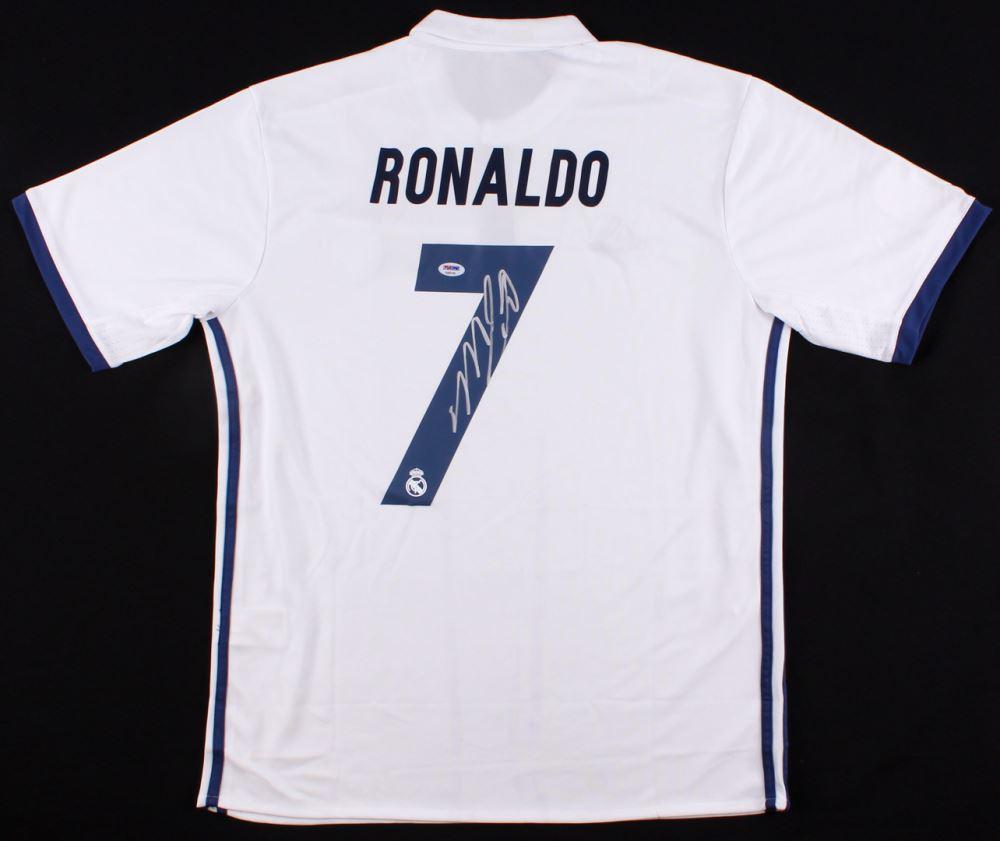 Cristiano Ronaldo Signed Real Madrid Jersey Psa Coa