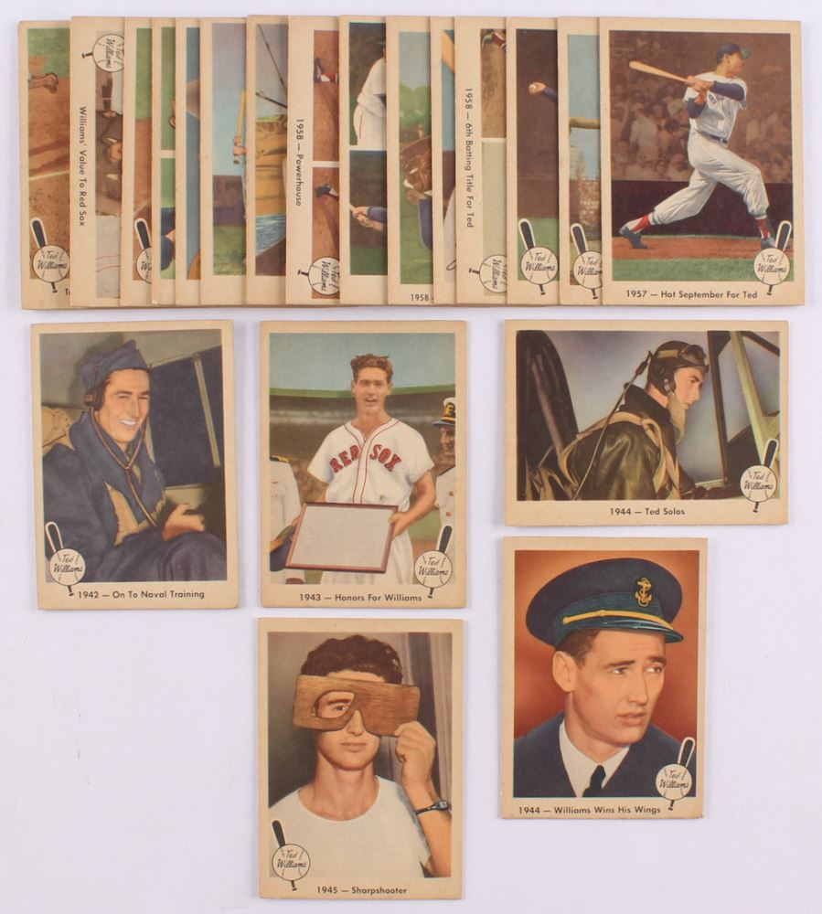 Lot Of 21 1959 Fleer Ted Williams Baseball Cards With 24