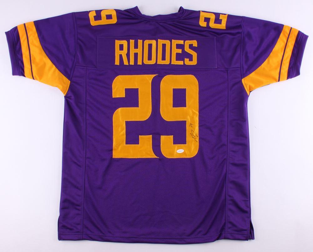 designer fashion a5ed7 f2dbe Xavier Rhodes Signed Vikings Color Rush Jersey (TSE ...